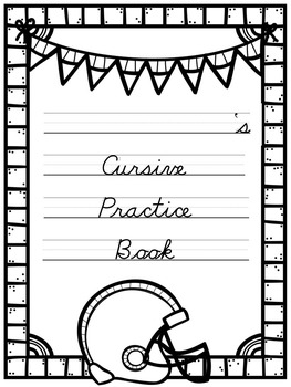 Cursive Practice Pages and/or Book with a Football Theme!