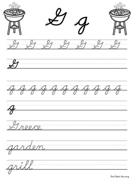 Cursive Practice Pages and/or Book with a Spring & Summer Theme!