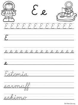 Cursive Practice Pages and/or Book with a Winter Theme! by Owl ...