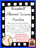 Cursive Practice Pages and/or Book with a Baseball Theme!