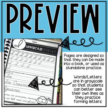 Cursive Practice Unit