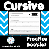 Cursive Practice Workbook for lower and uppercase manuscript