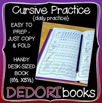 Cursive Practice Workbook for Students
