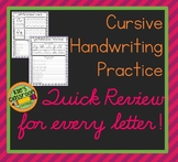 Cursive Practice and  Quick Review  - Relearn and Improve