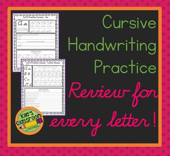 Cursive Practice and Review  - Relearn and Improve Your Cursive Writing