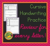 Cursive Practice and Review  - Relearn and Improve Your Cu