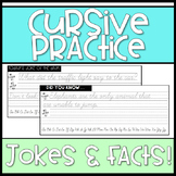 Cursive Practice: 80 days of jokes and facts to practice cursive