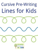 Cursive Pre-Writing Lines for Kids
