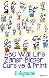 Cursive & Print ABC wall line - yellow chevron - Zaner Bloser