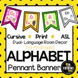 Cursive Print American Sign Language ASL Alphabets
