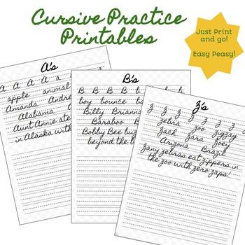 Cursive - Print and Go!