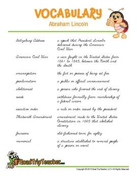 Cursive Printables: Abraham Lincoln