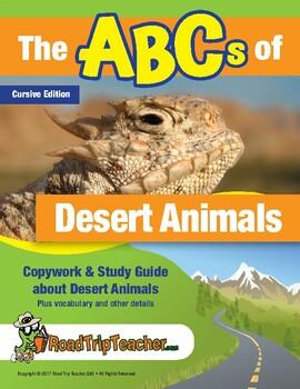Cursive Printables: Desert Animals