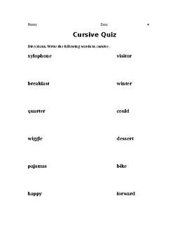 Cursive Quiz