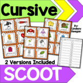 Cursive Handwriting Practice SCOOT or Write the Room