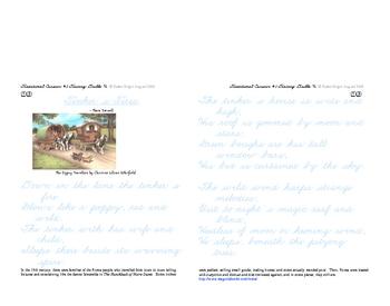 Cursive Script #3 Letters Traditional-style smaller