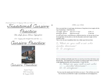 Cursive Script #6 Copying ascenders and descenders