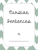 Cursive Sentences Book