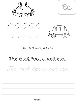Cursive Sentences Book