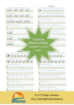 Cursive Step By Step - Teardrop Letters