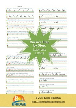 Cursive Step By Step - Lowercase Letters Bundle
