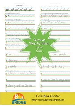 Cursive Step By Step - Upper Case A-G