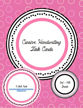Cursive Task Cards