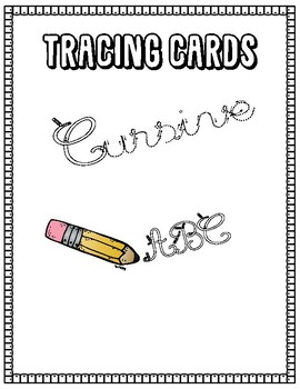 Cursive Tracing Cards
