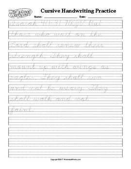 Cursive Tracing Handwriting Practice Isaiah 40-31