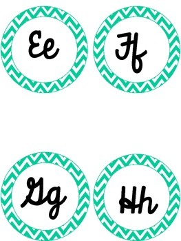 Cursive Turquoise Word Wall Headers