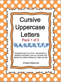 Cursive Uppercase Lessons (1 of 3)