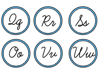 Cursive Word Wall Alphabet
