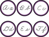Cursive Word Wall Headers Black & Purple Ravens Rockies Ma