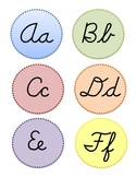 Cursive Word Wall Letters
