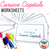 Cursive Handwriting Practice Booklets, Writing Worksheets, Capital Letters
