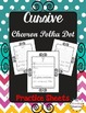 Cursive Worksheets & More! {Chalkboard Chevron Polka Dot}