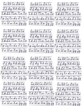 Cursive Writing | 16 Printable Handwriting Prompts | STEM (Grades 3-7)