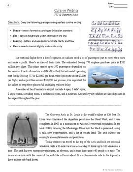 Cursive Writing   20 Printable Handwriting Prompts (Grades 3-7)   Fun Facts