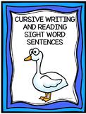 Cursive Writing Sight Word Sentences