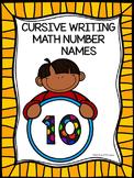 Cursive Writing: Handwriting Practice (Math Number Names)