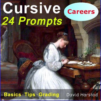 Cursive Writing | 24 Printable Handwriting Prompts (Grades 3-7) | Careers
