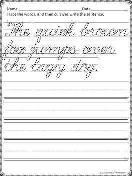 Cursive Writing: Handwriting Practice (ABC's)