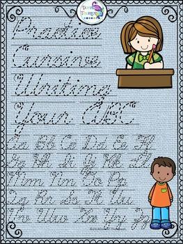 Cursive Writing: ABC's (No Prep Worksheets)