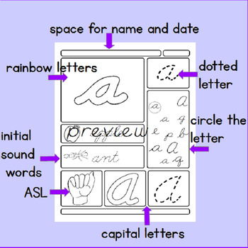Cursive Writing Alphabet Practice-Capitals & Lower Case