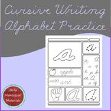 Cursive Writing Alphabet Practice-Capitals & Lower Case