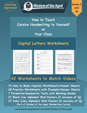 Handwriting Distance Learning - Capital Letters Worksheets