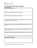 Cursive Writing Checklist