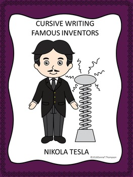 Cursive Writing: Names of Famous Inventors (Worksheets)