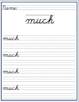 Cursive Writing Galore