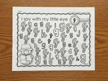 Cursive Writing I Spy